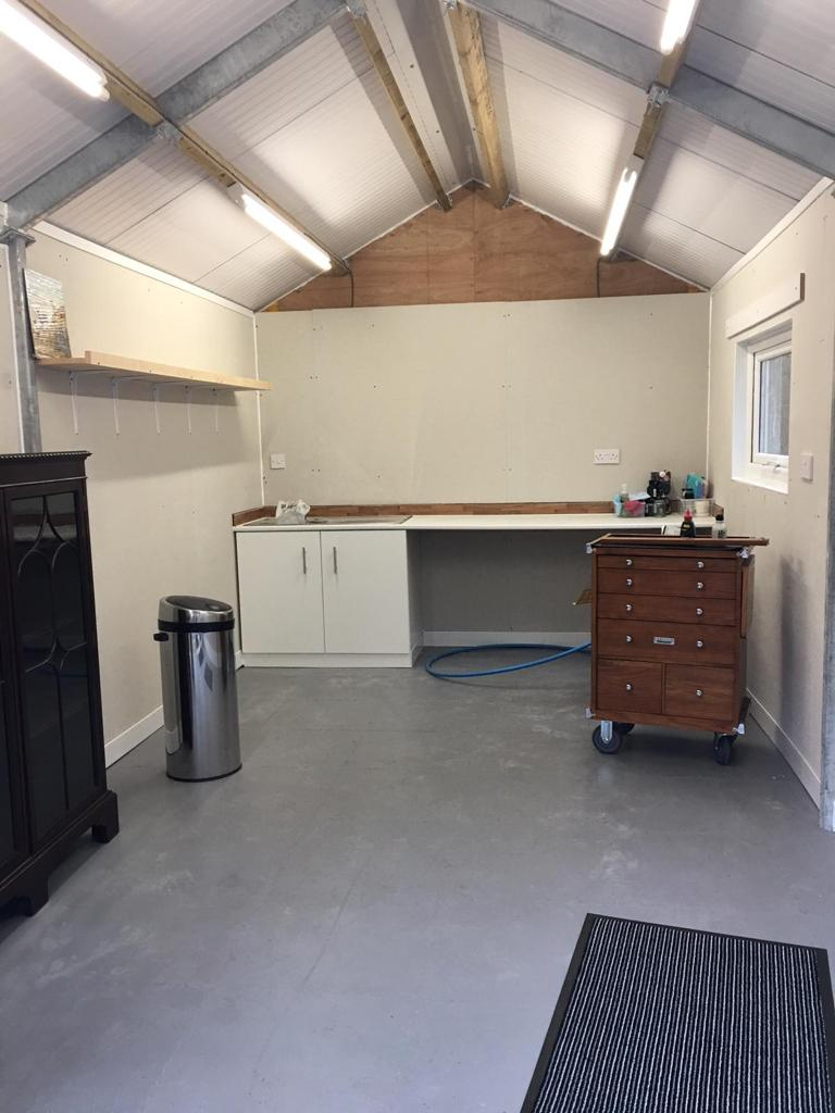Completed Concrete Garage