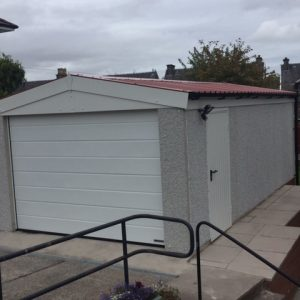 Concrete Garage Side View