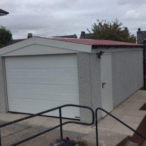 Concrete Garage Side View