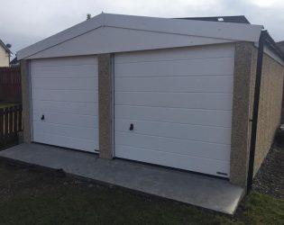 Double Door Concrete Garage