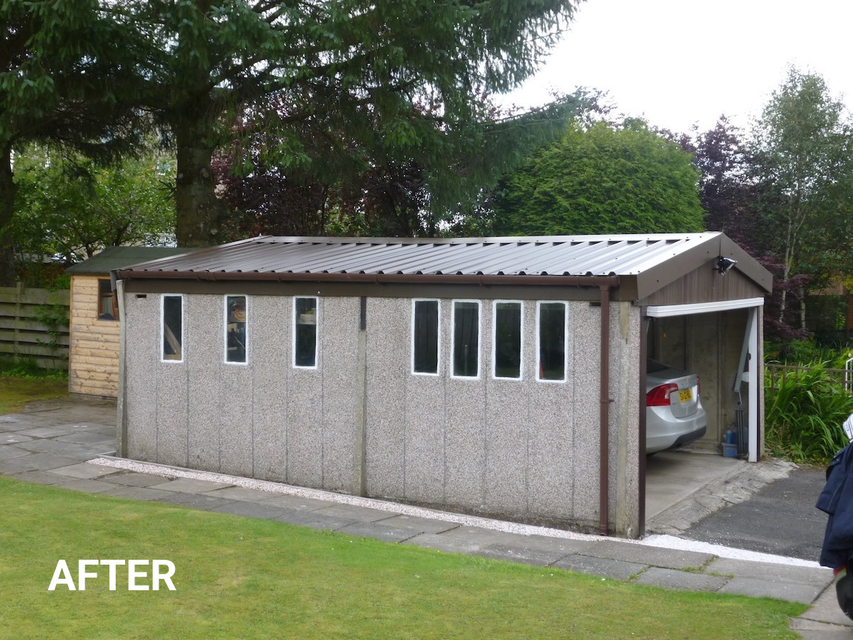 Asbestos Cement Re-Roof Exterior After