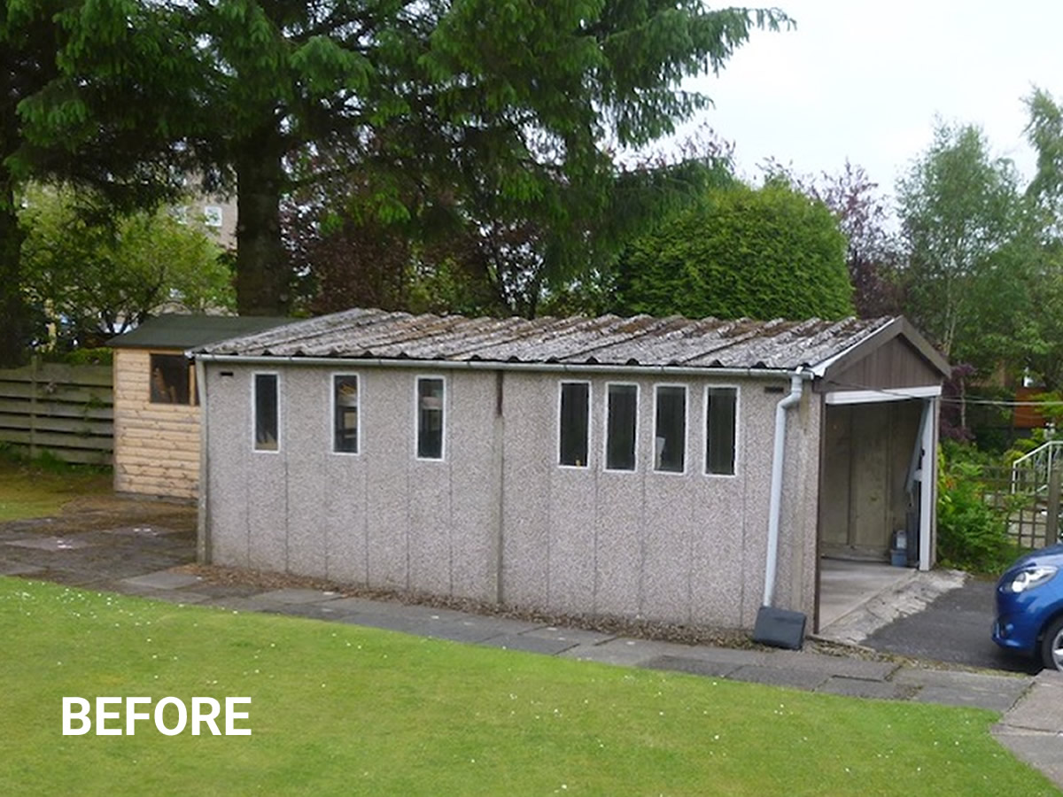 Asbestos Cement Re-Roof Exterior Before