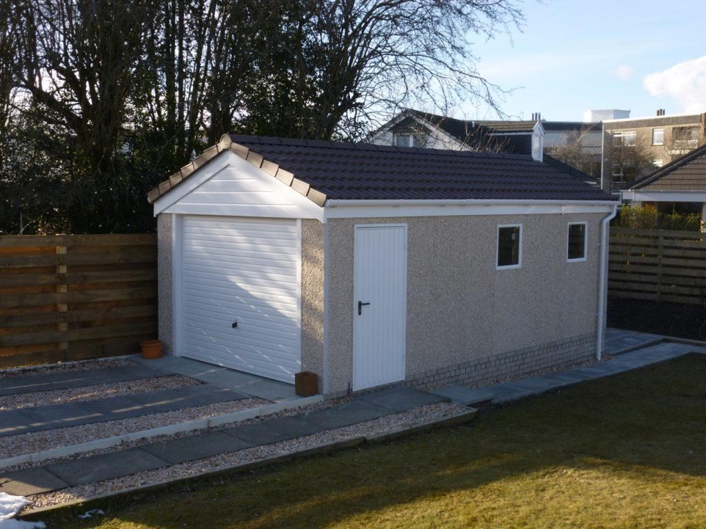 Tiled Roof Concrete Garage Time Lapse Welsh Builds