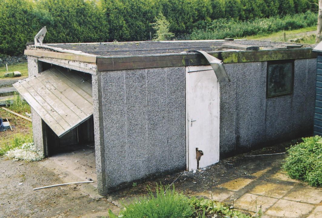 Concrete Garage Before