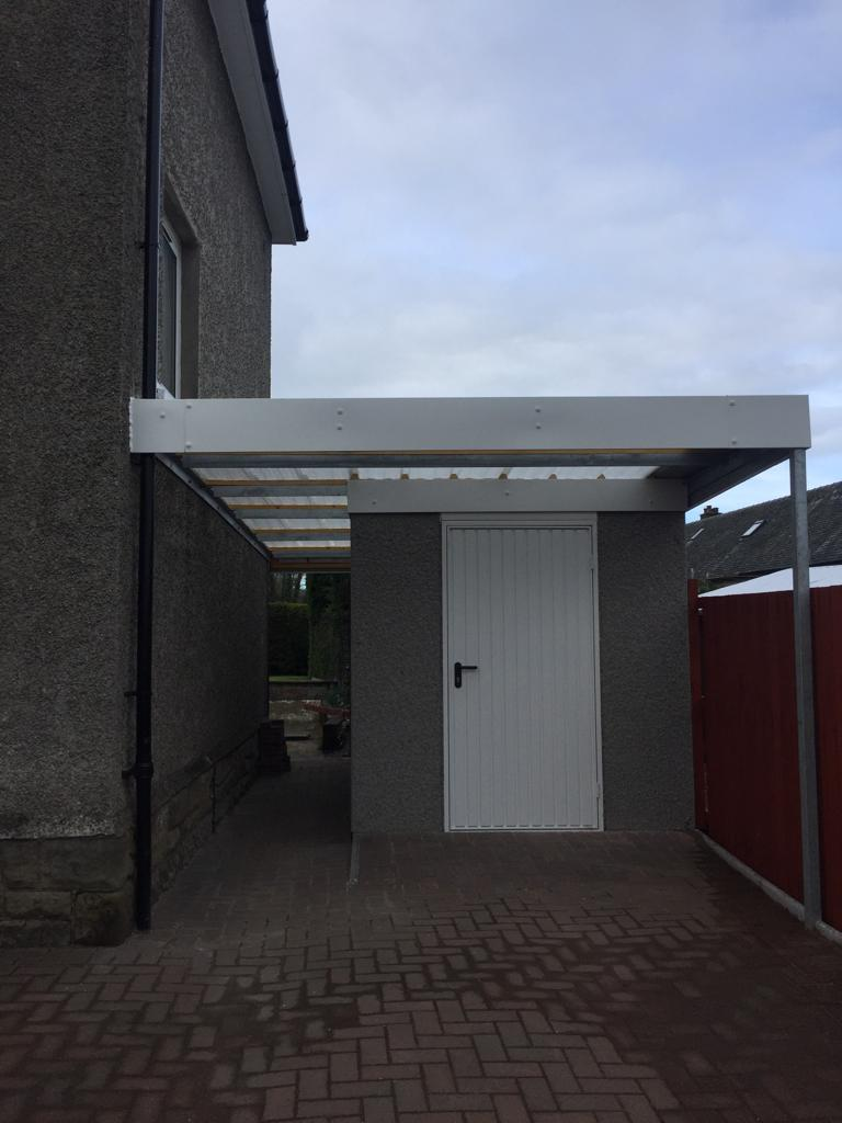 A Motorbike Garage with an Insulated Roof