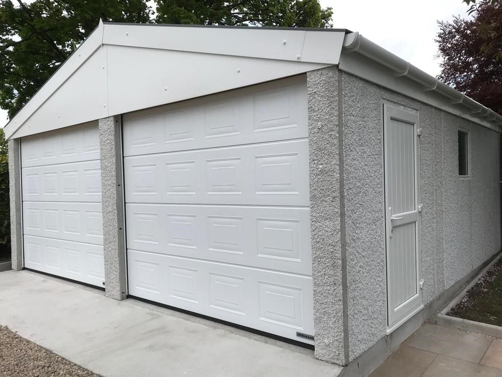 Double Door Concrete Garage